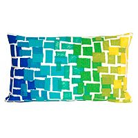 Trans Ocean Imports Liora Manne Ombre Tile Indoor Outdoor Throw Pillow