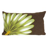 Trans Ocean Imports Liora Manne Palm Fan Indoor Outdoor Throw Pillow