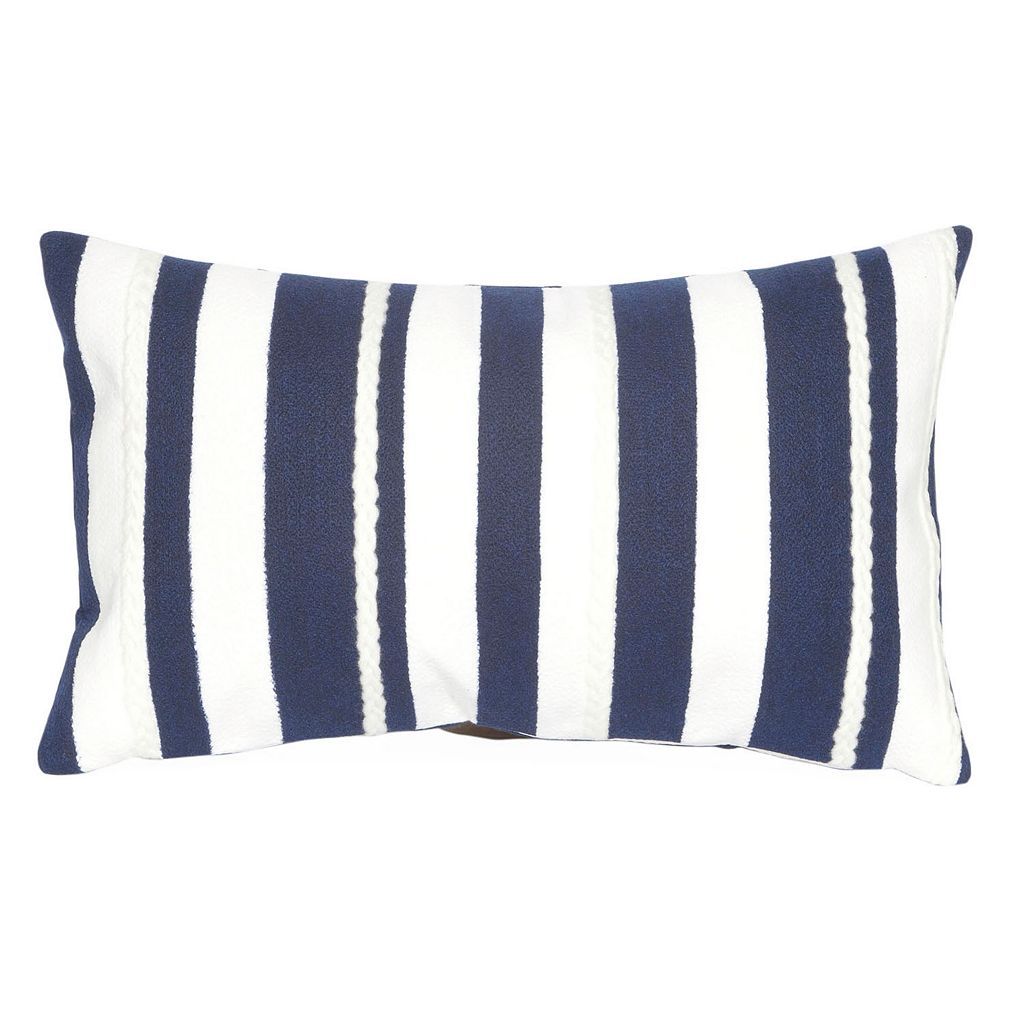 Trans Ocean Imports Liora Manne Marina Stripe Indoor Outdoor Throw Pillow