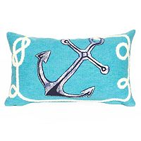 Trans Ocean Imports Liora Manne Marina Anchor Indoor Outdoor Throw Pillow