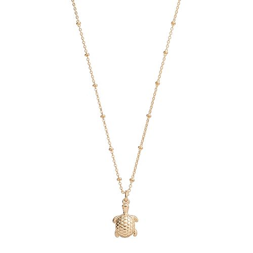 LC Lauren Conrad Turtle Pendant Necklace