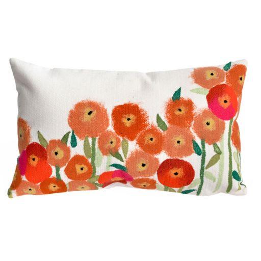 Trans Ocean Imports Liora Manne Poppies Indoor Outdoor Throw Pillow