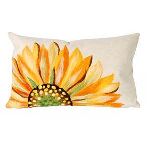 Trans Ocean Imports Liora Manne Sunflower Indoor Outdoor Throw Pillow\n