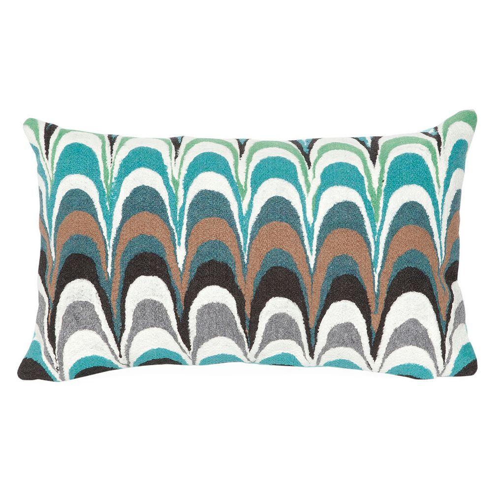 Trans Ocean Imports Liora Manne Floating Ink Indoor Outdoor Throw Pillow