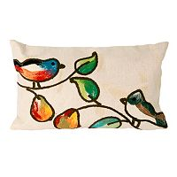 Trans Ocean Imports Liora Manne Song Birds Indoor Outdoor Throw Pillow