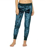 Women's Jezebel Pajamas: Flora Crushed Velvet Jogger Pants