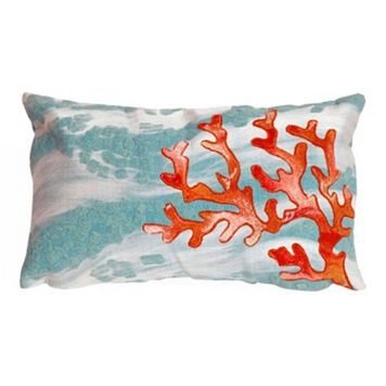 Trans Ocean Imports Liora Manne Coral Wave Indoor Outdoor Throw Pillow