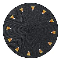 Celebrate Halloween Together Candy Corn Round Placemat