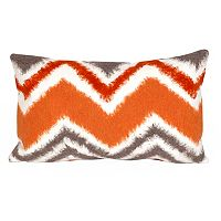Trans Ocean Imports Liora Manne Zigzag Ikat Indoor Outdoor Throw Pillow