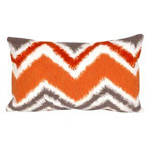 Trans Ocean Imports Liora Manne Zigzag Ikat Indoor Outdoor Throw Pillow\n
