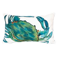 Trans Ocean Imports Liora Manne Sea Crab Indoor Outdoor Throw Pillow