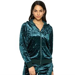 Women's Jezebel Pajamas: Flora Crushed Velvet Hoodie