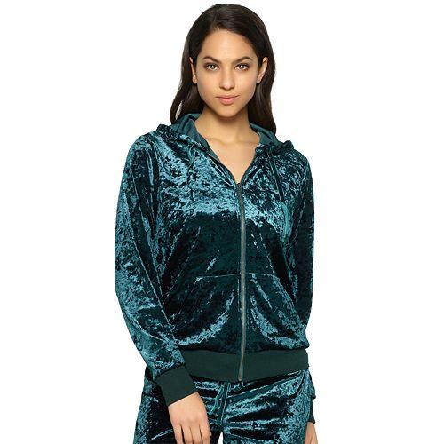 Women's Jezebel Pajamas: Flora Crushed Velvet Hoodie
