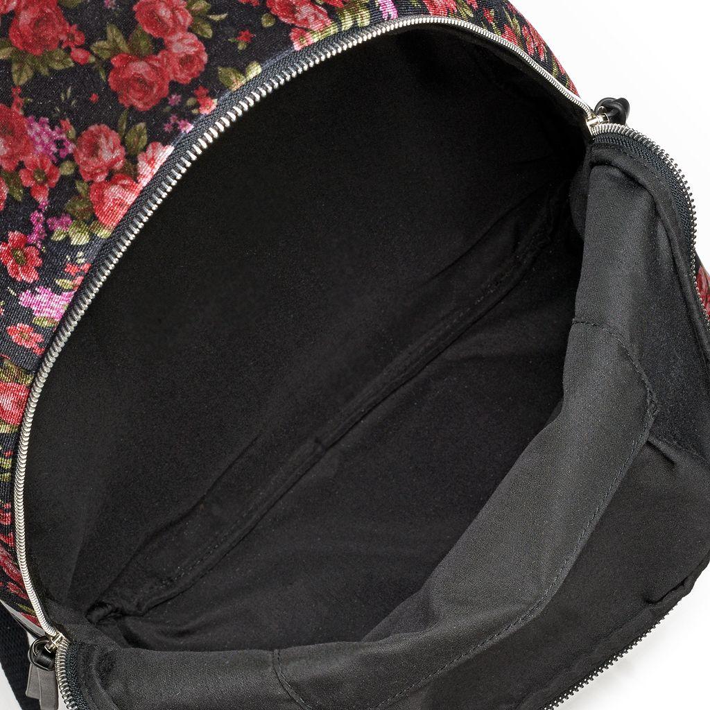 Candie's® Scarlett Floral Velvet Backpack