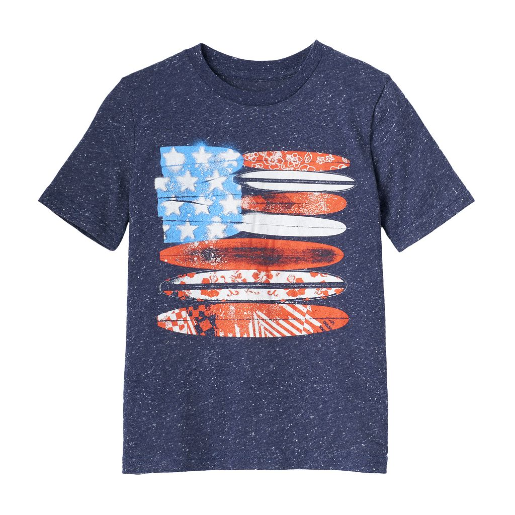 Boys 4-10 Jumping Beans® American Flag Surf Boards Nep Graphic Tee