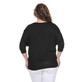 Plus Size White Mark Dolman Top