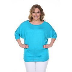 Plus Size White Mark Dolman Top