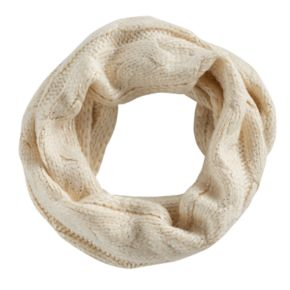 Girls 4-16 SO® Cable-Knit Glitter Infinity Scarf