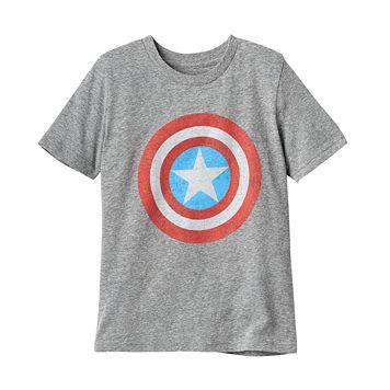 Boys 4-10 Jumping Beans® Marvel Captain America Logo Graphic Tee