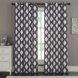 VCNY Sorrento Metallic Window Curtain Set