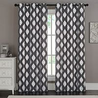 VCNY Sorrento Metallic Window Curtain Set