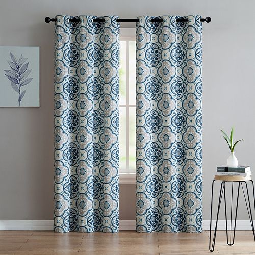 VCNY 2-pack Winstead Printed Window Curtains