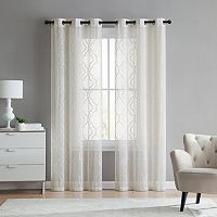 VCNY 2-pack Charlotte Embroidery Sheer Window Curtain