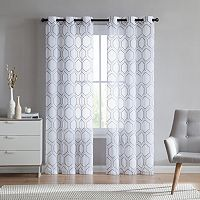 VCNY Empire Embroidered Sheer Window Curtain Set