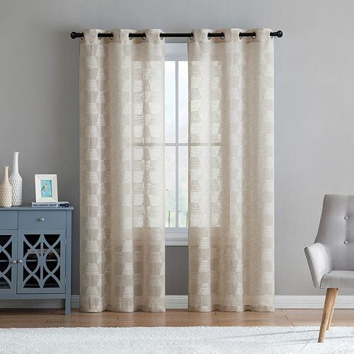 VCNY 2-pack Jolie Embroidery Sheer Window Curtains