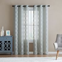 VCNY Jolie Embroidery Sheer Window Curtain Set