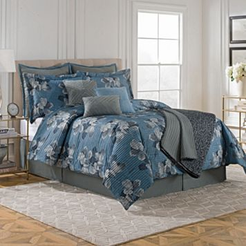 Pleated Leaf 9-piece Comforter Set