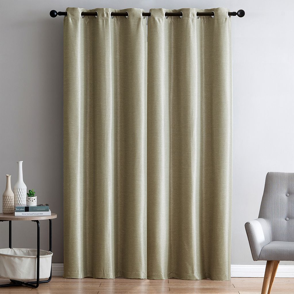 VCNY 2-pack Arlenis Faux Silk Blackout Curtain