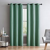 VCNY Arlenis Faux Silk Blackout Window Curtain Set