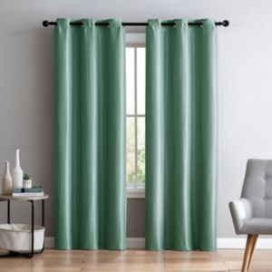VCNY Home 2-pack Arlenis Faux Silk Blackout Curtain