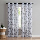 VCNY 2-pack Jasmine Semi Sheer Printed Window Curtains