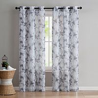 VCNY Jasmine Semi Sheer Printed Window Curtain Set