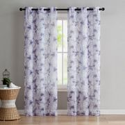VCNY 2-pack Jasmine Semi Sheer Printed Window Curtains