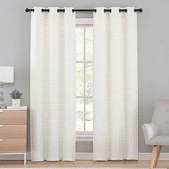 VCNY 2-pack Marcus Pleated Semi Sheer Window Curtains