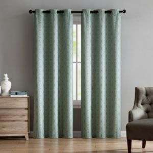 VCNY Home 2-pack Jade Jacquard Curtain