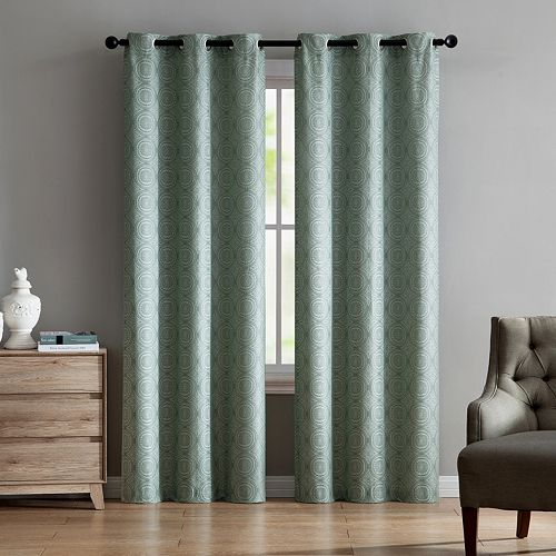 VCNY 2-pack Jade Jacquard Window Curtains