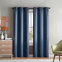 VCNY 2-pack Mason Check Solid Curtain