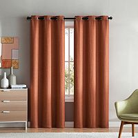 VCNY Mason Check Solid Window Curtain Set