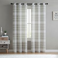 VCNY South Hampton Sheer Window Curtain Set