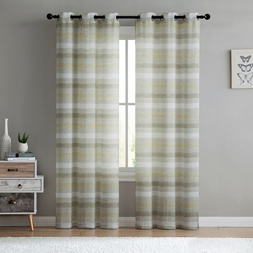 VCNY 2-pack South Hampton Sheer Window Curtains