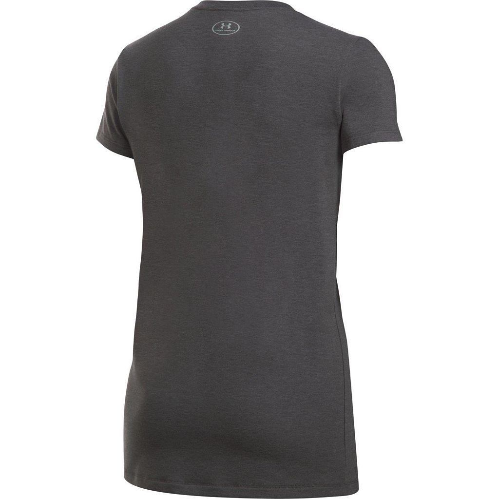 Women's Under Armour Big Logo Metallic Short Sleeve Graphic Tee