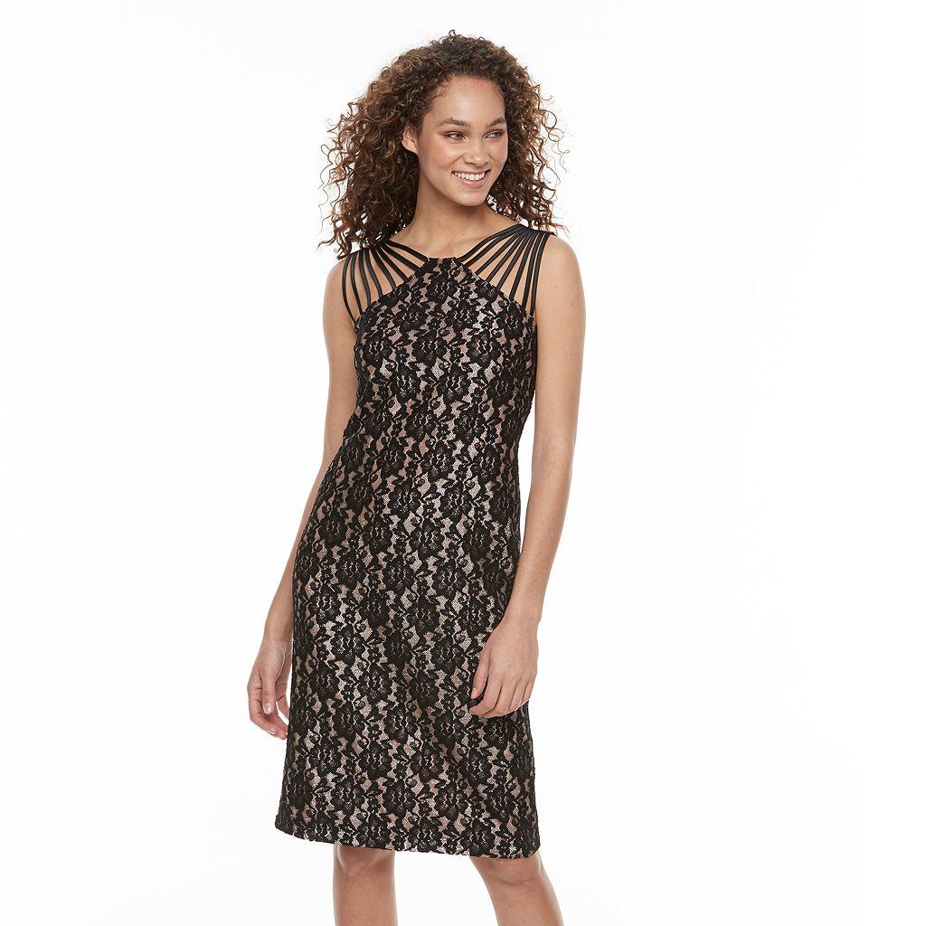 Women's Scarlett Strappy Lace Sheath Dress
