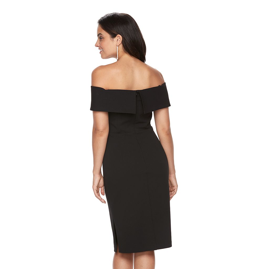Women's Scarlett Black Off-the-Shoulder Sheath Dress