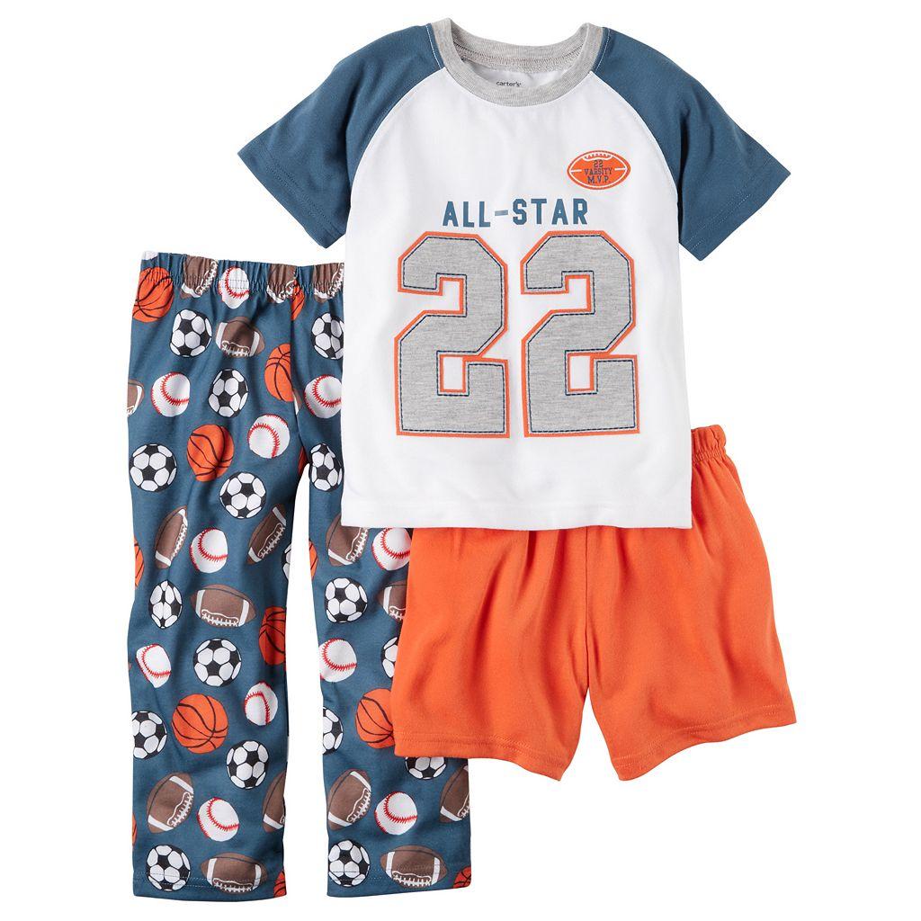 Boys 4-12 Carter's All-Star 3-Piece Pajama Set