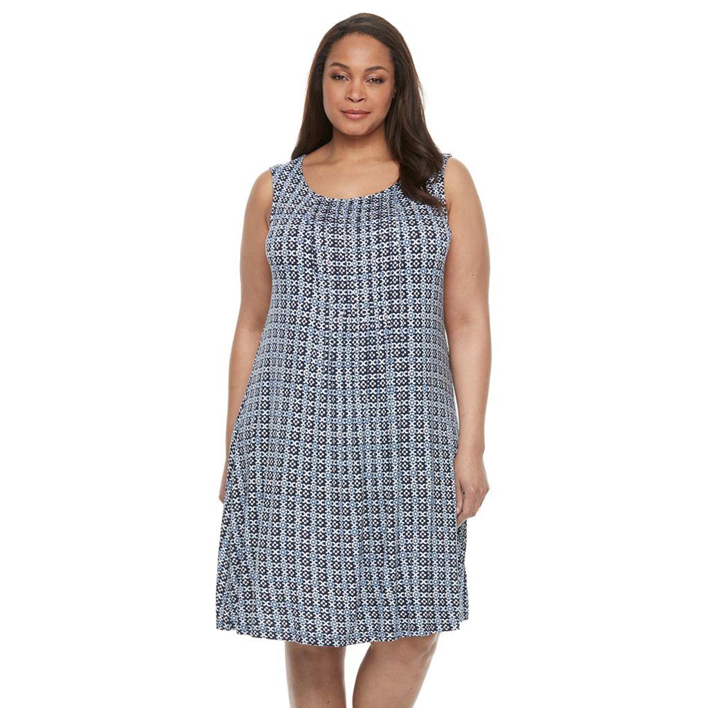 Plus Size Croft & Barrow® Pintuck Shift Dress
