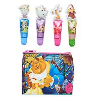 Disney's Beauty and the Beast Girls 4 pkBelle Lip Gloss with Zip Pouch